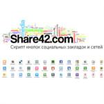Кнопки социальных сетей и закладок для сайта