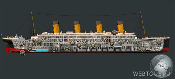 план помещений Титаника