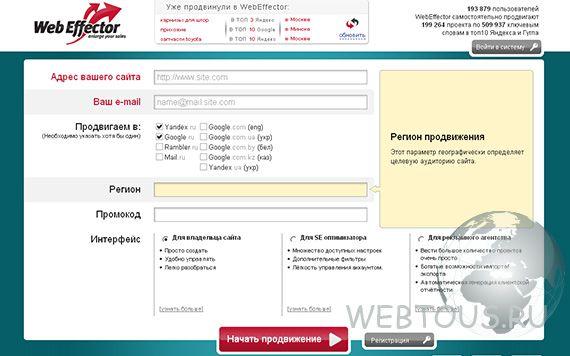 Онлайн сервис продвижения сайтов