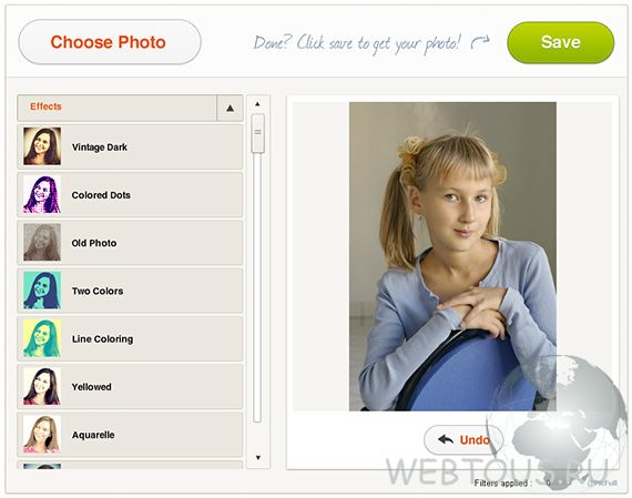сервис онлайн фотоэффектов