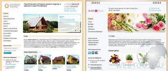 пример сайтов созданных в Nethouse