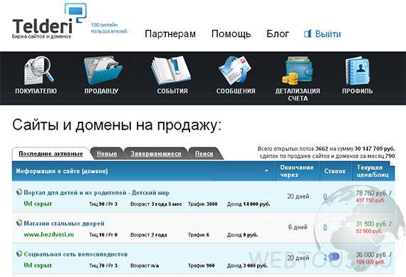 биржа купли продажи сайтов и доменов
