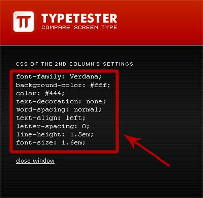 код стиля для шрифта