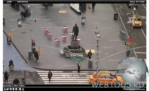 веб камера с Times Square