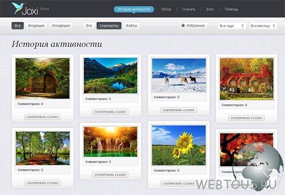 вебинтерфейс сервиса