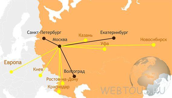 карта расположения серверов