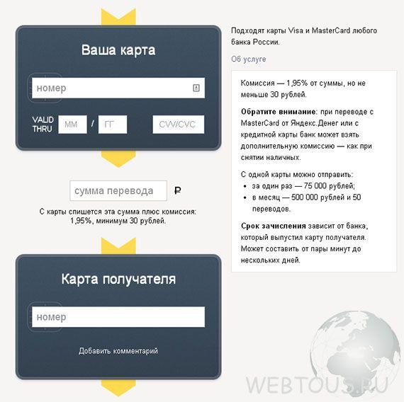 сервис денежных онлайн переводов