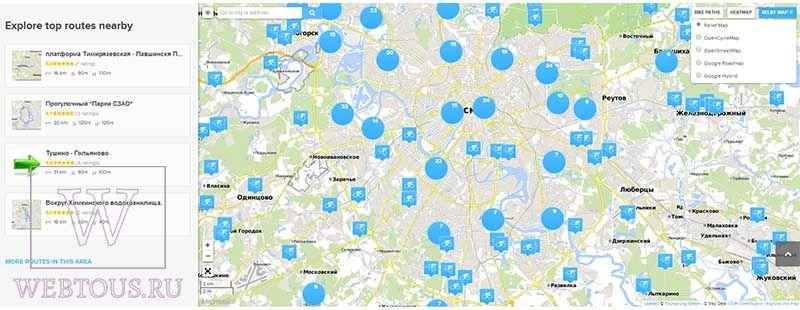 веломаршруты на карте