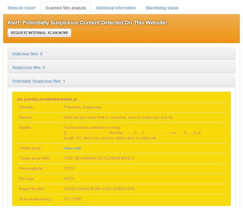 quttera сканер сайтов