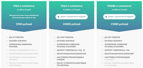 стоимость разработки интернет-магазина под ключ