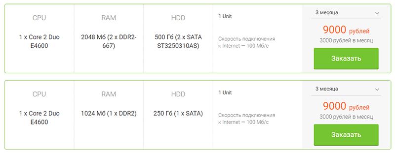 стоимость физических серверов