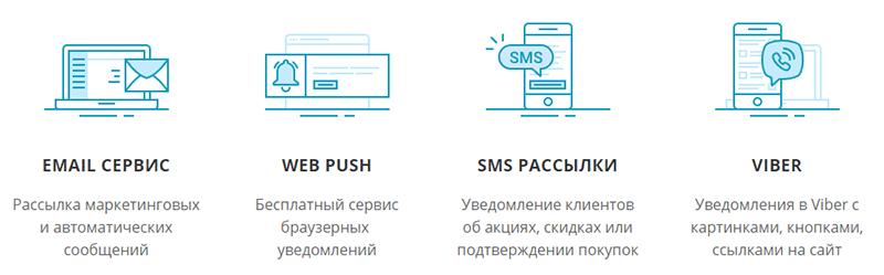 основной функционал SendPulse