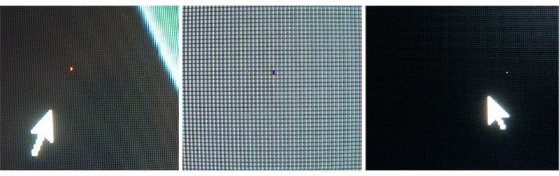 как выглядит битый пиксель на экране