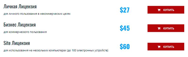 цена программы
