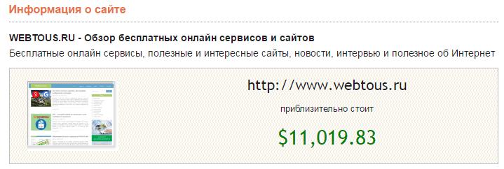 оценка сайта на mysitecost