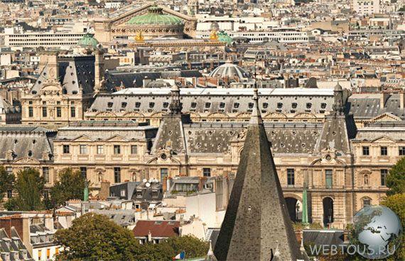 панорама Парижа онлайн