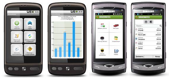 drivernotes для мобильного