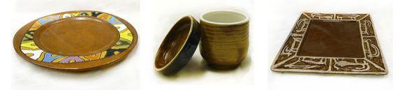красивая посуда из глины и керамики