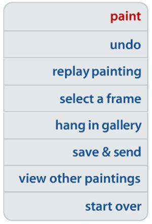 основное меню рисовалки ArtPad