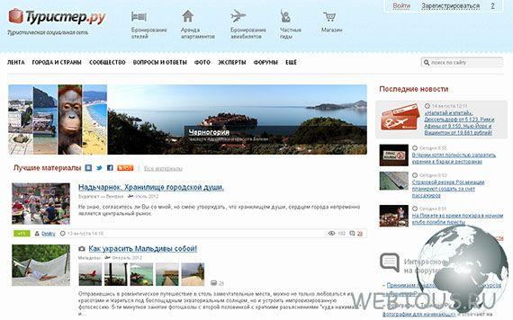 соц. сеть для туристов