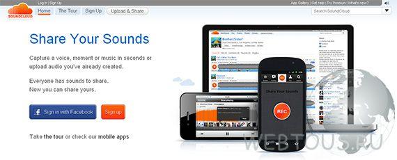 музыкальная социальная сеть SoundCloud