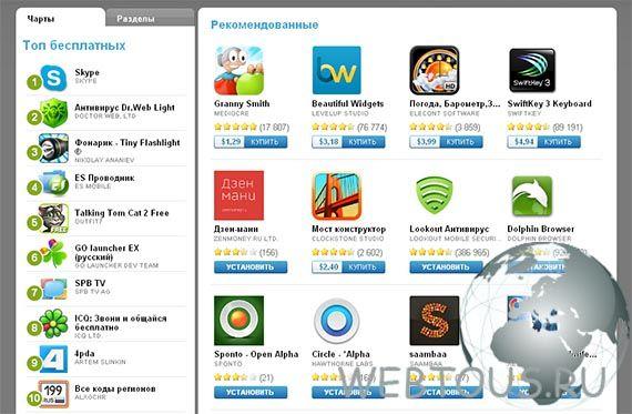 приложения и игры для смартфонов и планшетов