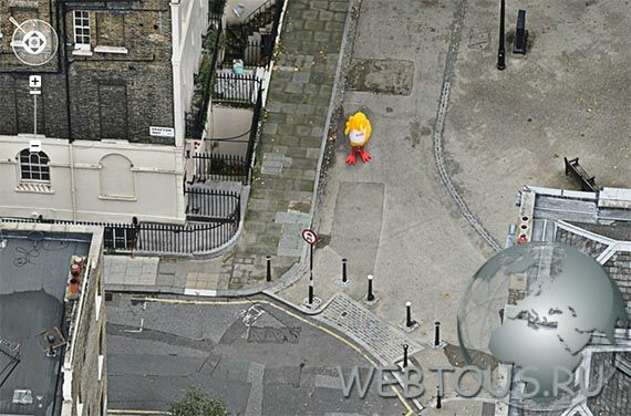 Buzby на панораме Лондона