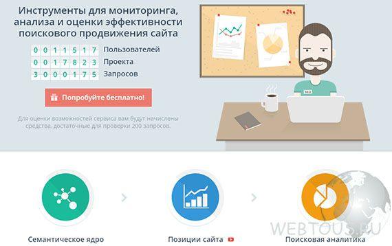 Сервис анализа сайтов Топвизор