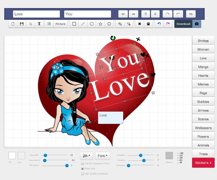 Редактор для создания открытки онлайн