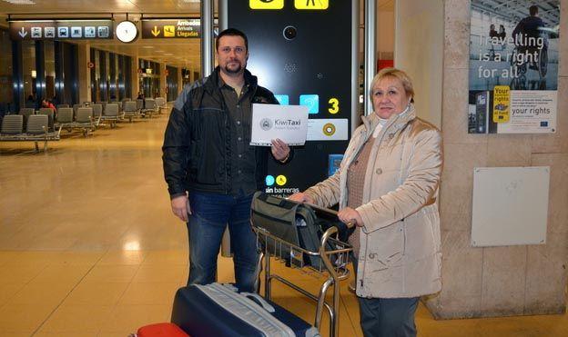kiwitaxi встреча в аэропорту