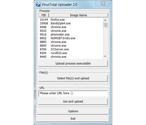 утилита VirusTotal Uploader
