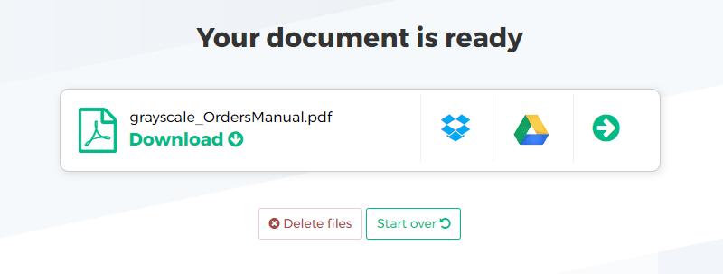 ссылки на скачивание итогового файла