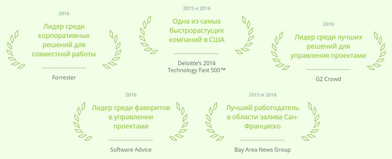 награды сервиса в разных номинациях