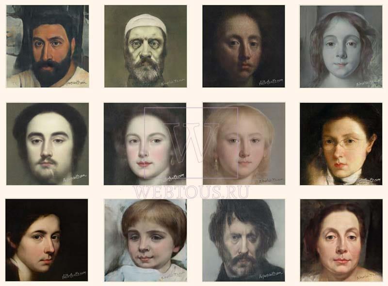 превращенные в портреты фотографии