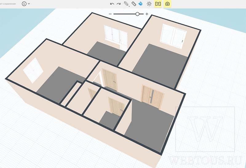 3D план квартиры в редакторе
