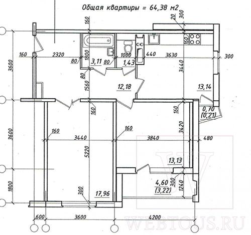 план-чертеж квартиры