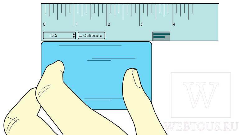 экранная калибровка по кредитке