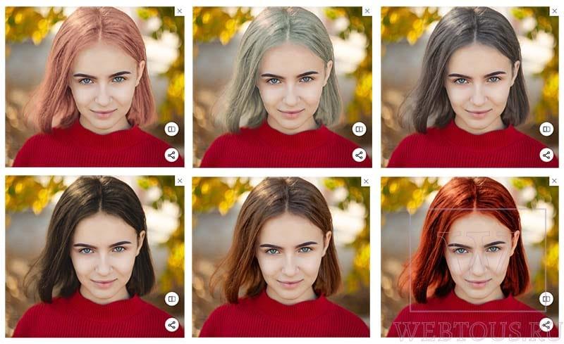 различные варианты цвета волос