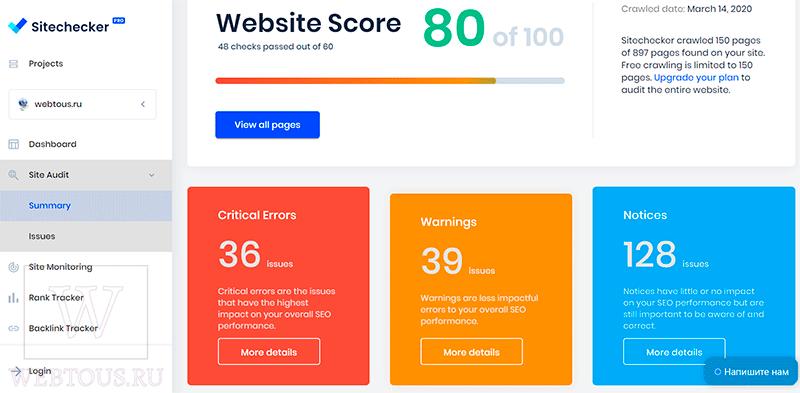 отчет о сео-анализе сайта