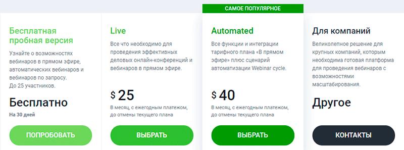 тарифы clickmeeting