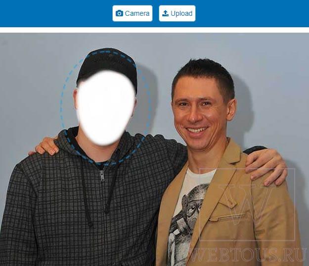 замена лица на фото