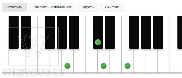 игра аккордами на пианино