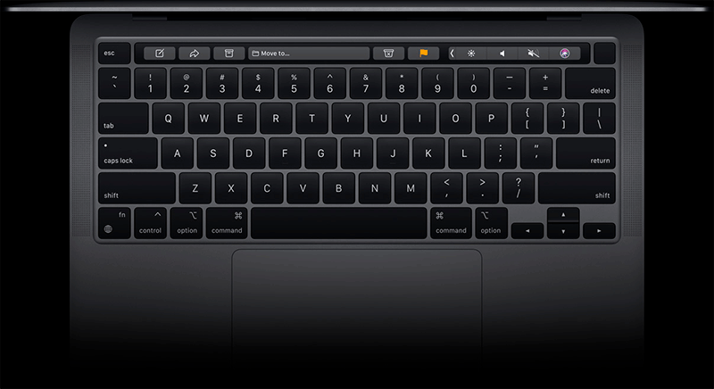 M1 MacBook Pro touchbar