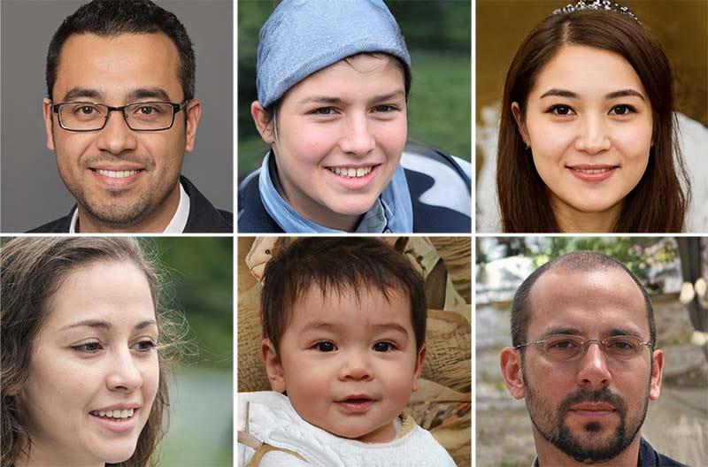 фото людей, созданные нейросетью